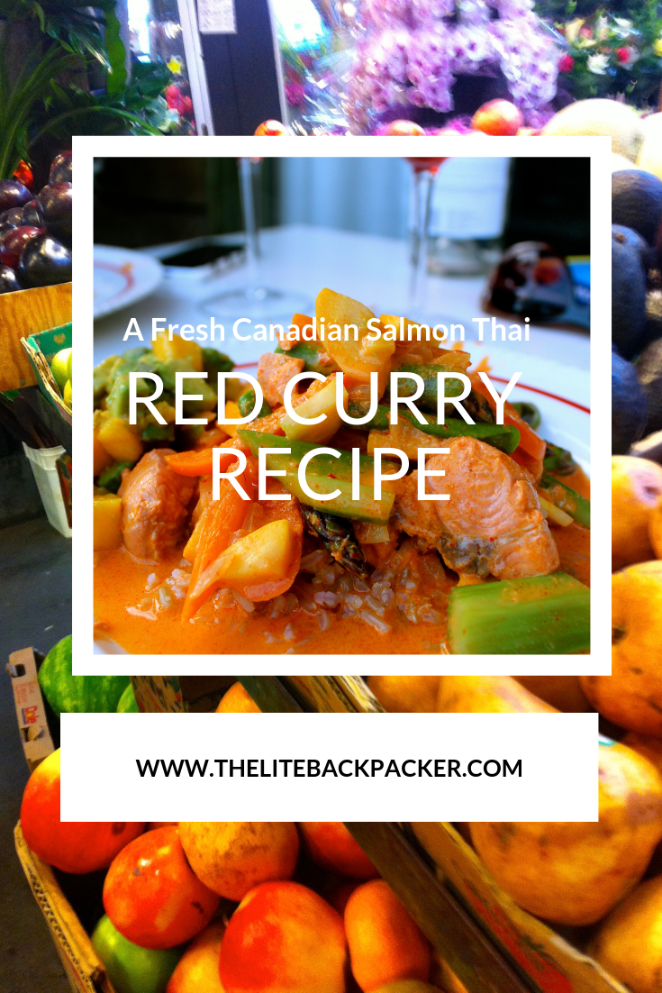 Fresh Canadian Salmon Red Thai Curry