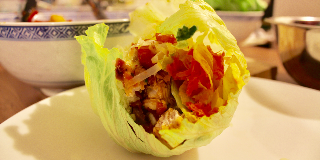 Healthy Chicken Fajitas with Lettuce Cups