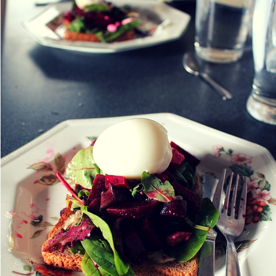 Beetroot and Egg Breakfast Bruschetta 2