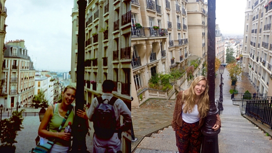 Loving the picturesque streets of Paris - then and now!