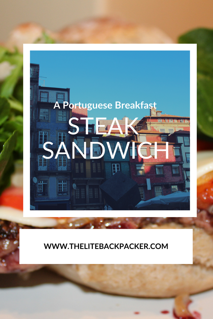 An Easy Breakfast Steak Sandwich on Portugese Bread