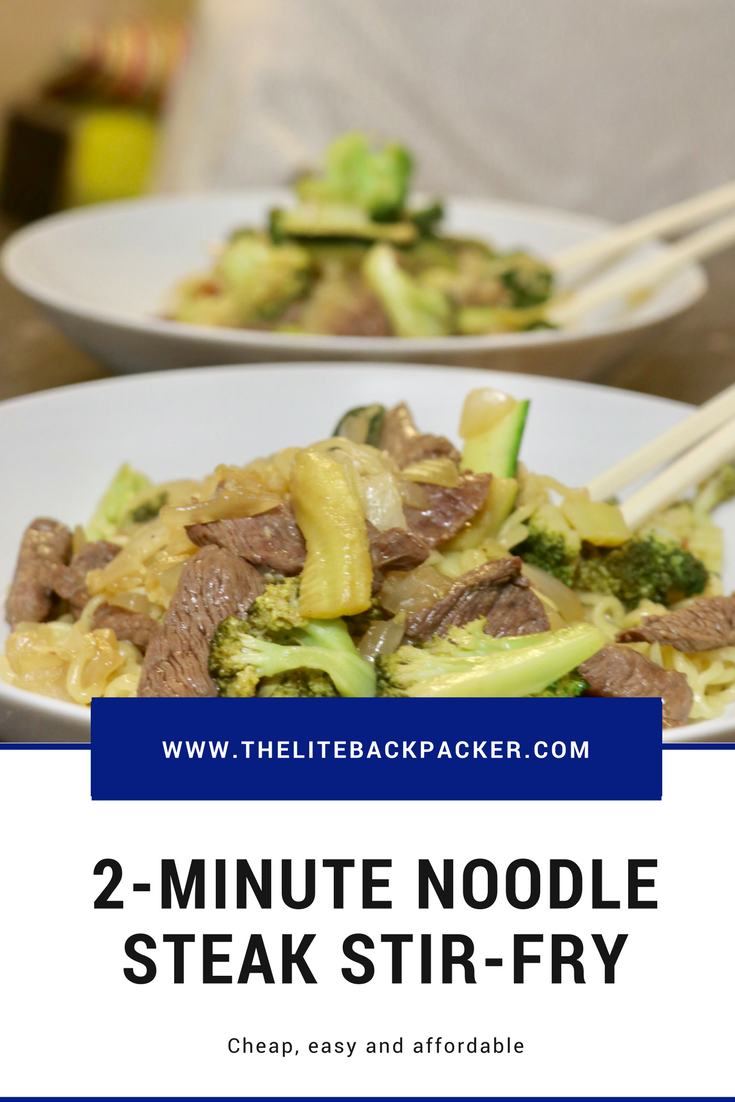 Easy and Cheap 2-Minute Noodle Steak Stir-Fry Recipe