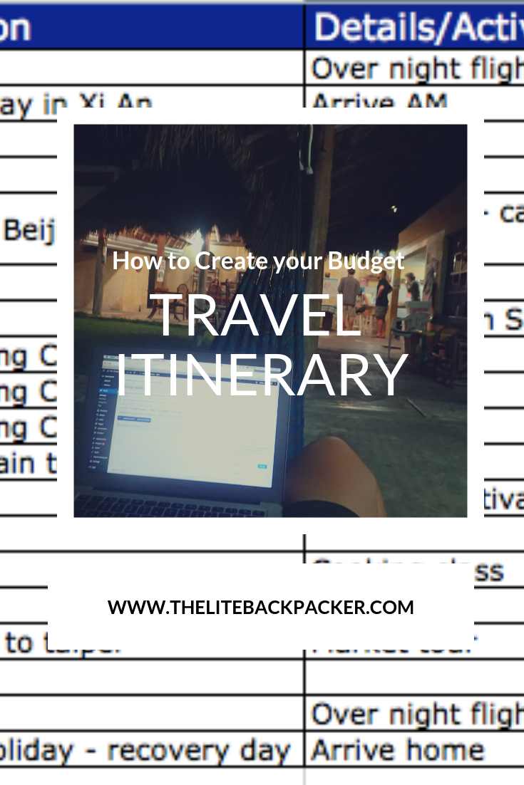 How to Create a Budget Travel Itinerary
