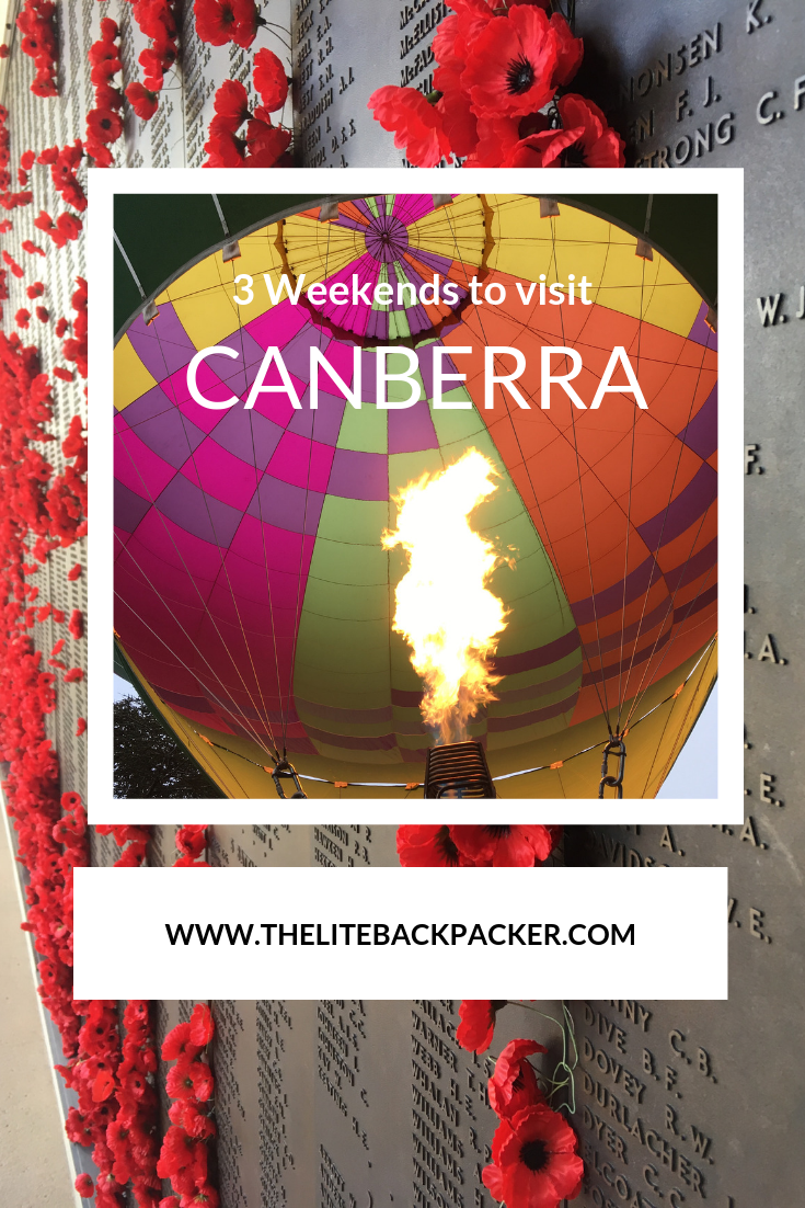 You will be surprised at how much there is to do in Canberra (Australia\'s capital city), especially if you visit on one of these weekends #Balloonspectacular #Anzacday #Floriade